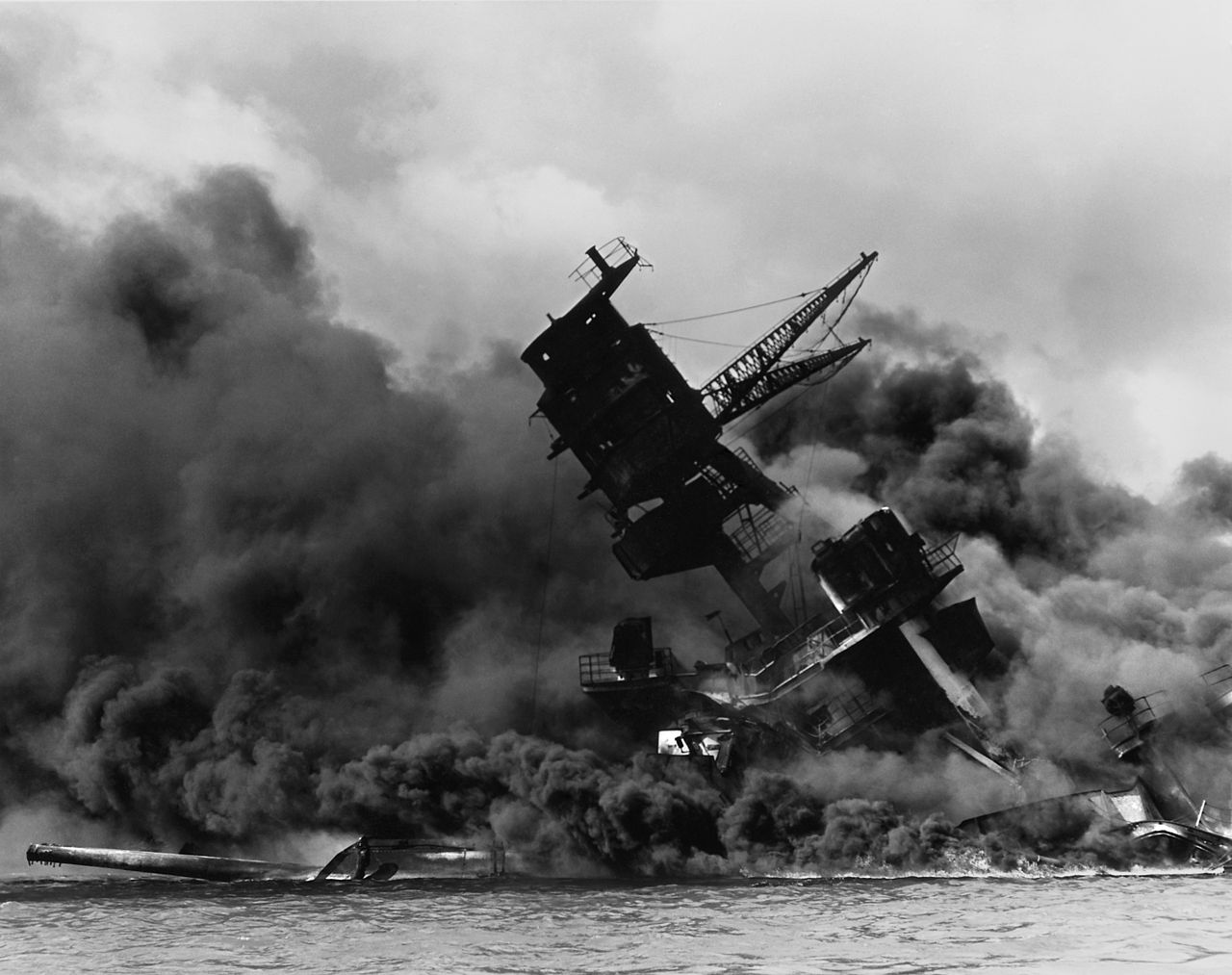 attack on pearl harbor atomic heritage foundation the uss arizona under attack