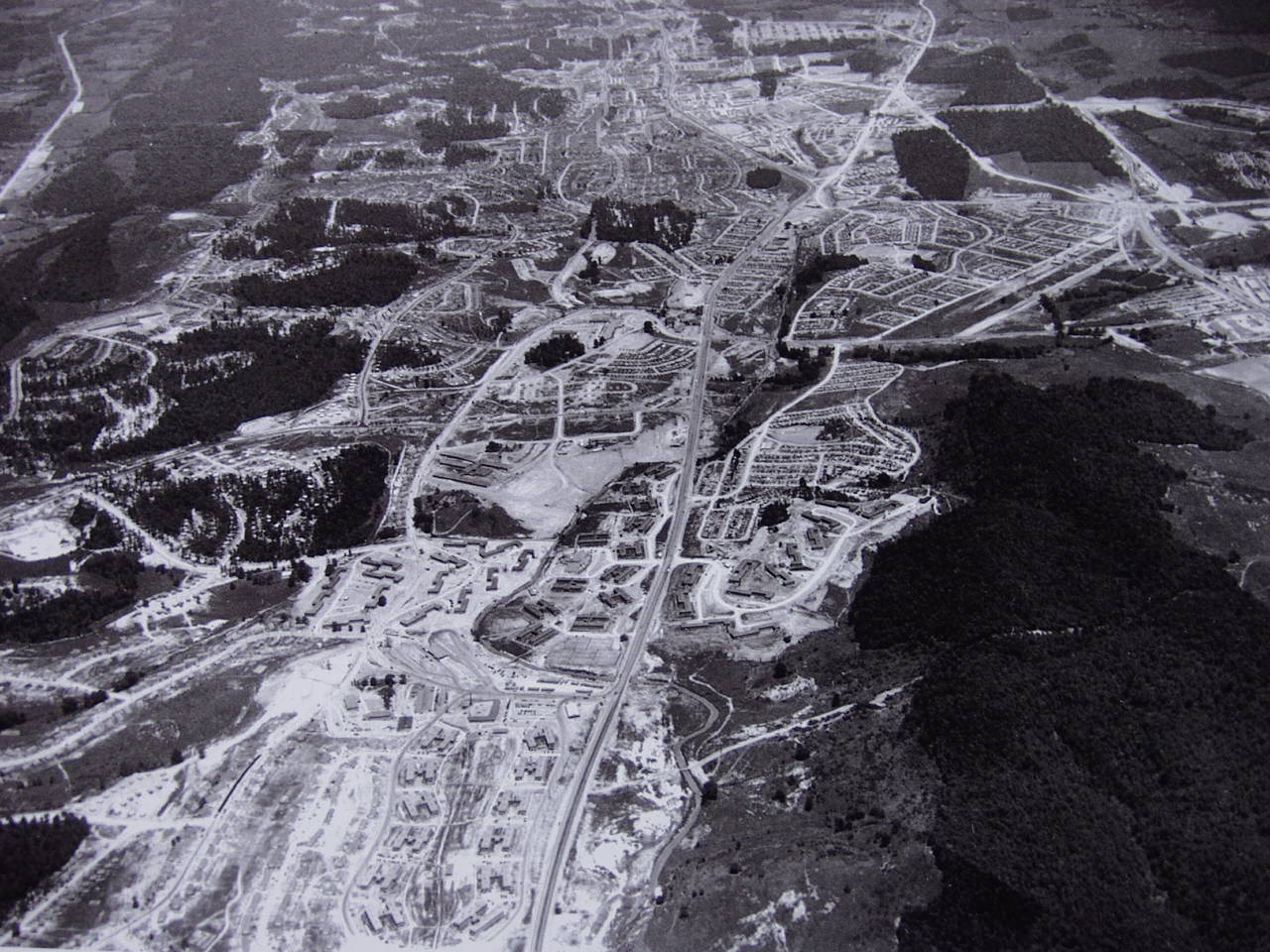 Aerial view of Oak Ridge.