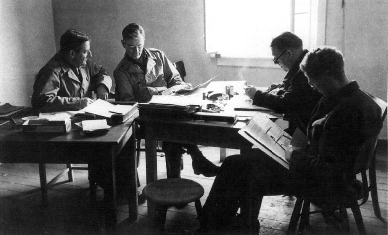 Alsos members Goudsmit, Wardenburg, Welsh and Cecil