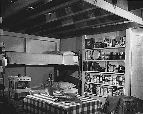 A 1950s fallout shelter