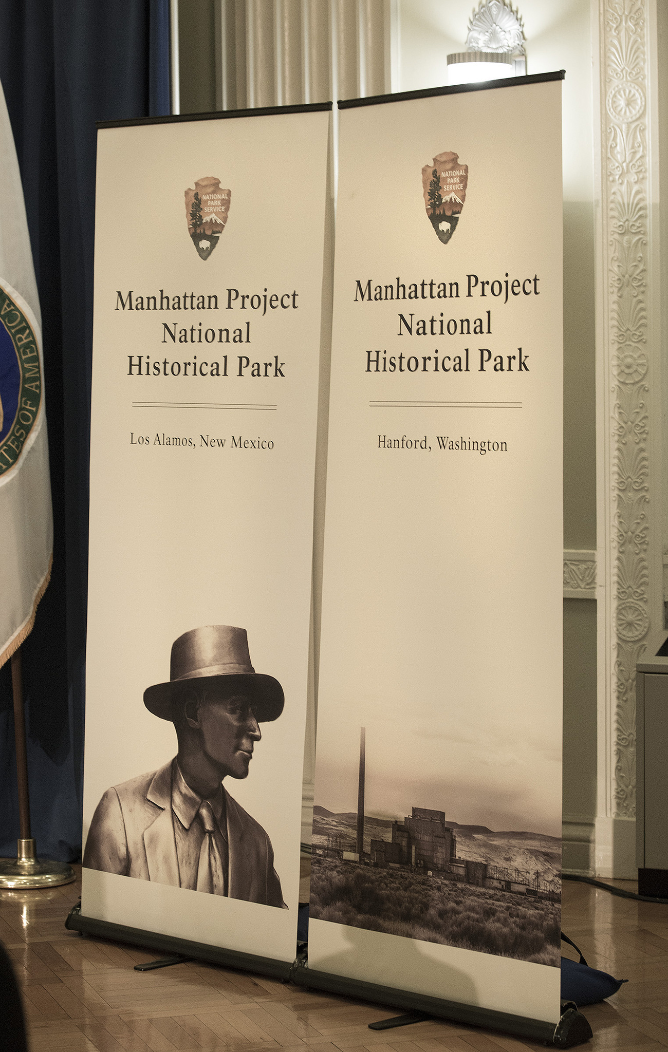 From South Interior Building in Washington, D.C., on November 10, 2015, where Secretary of the Interior Sally Jewell and Energy Secretary Ernest Moniz signed a memorandum of agreement which created the the Manhattan Project National Historical Park.