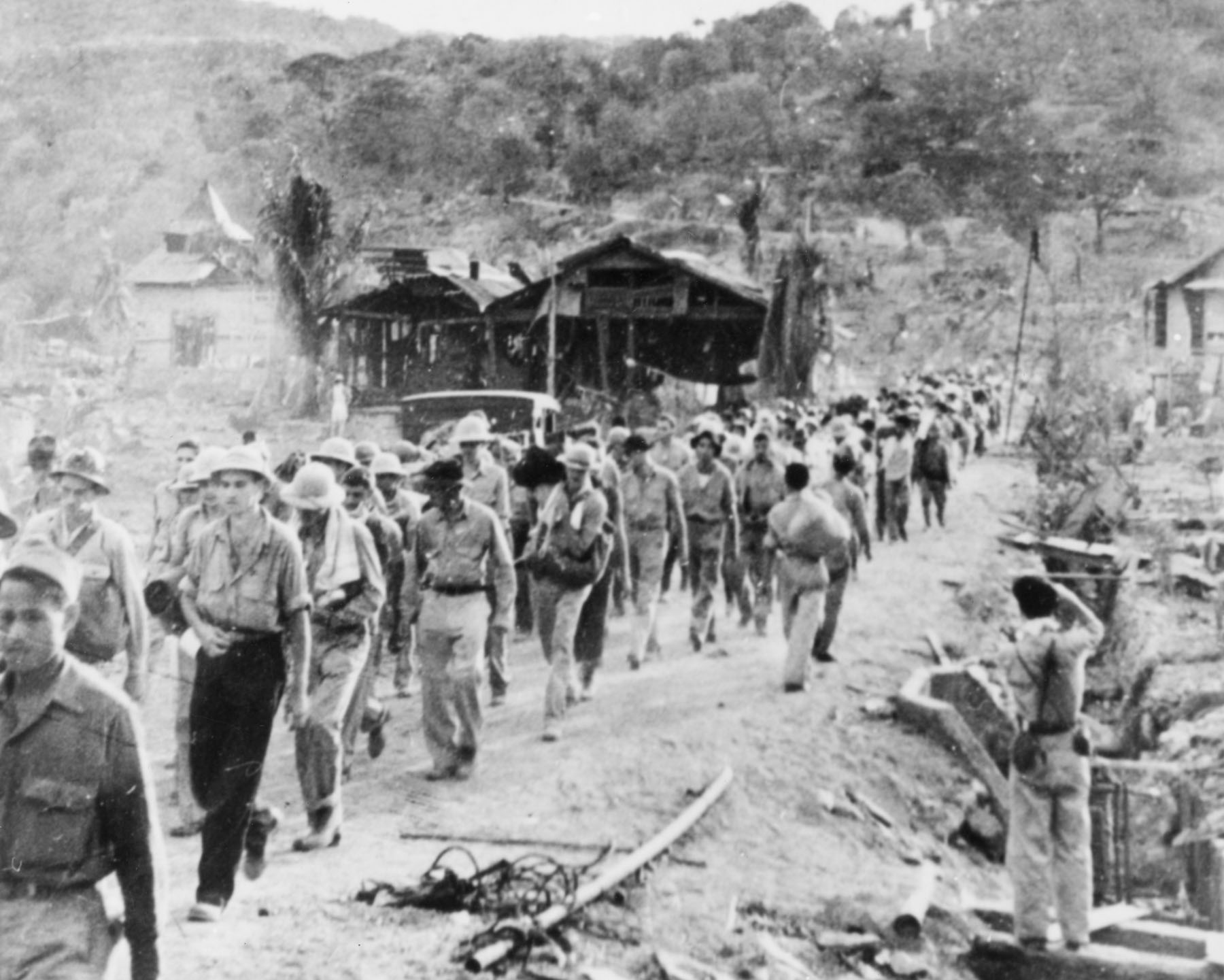 The Bataan Death March. Photo courtesy of the National Archives