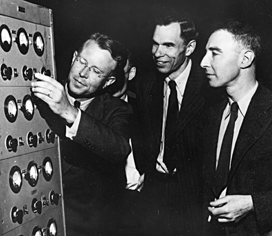 Ernest Lawrence, Glenn Seaborg, and J. Robert Oppenheimer