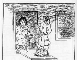 A Dupus Boomer cartoon by Dick Donnell on life at Hanford