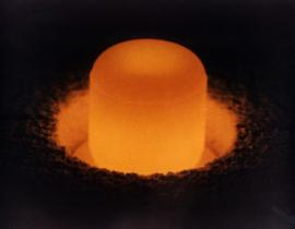 A glowing sphere of Plutonium-238