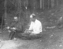 A. J. Connell (left), who served as director of the Los Alamos Ranch School. Photo courtesy the Los Alamos History Museum Archives.