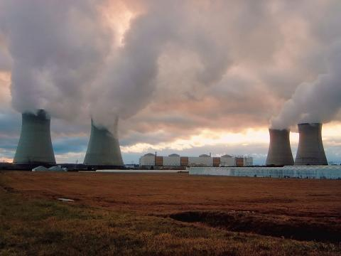 The Dampierre Nuclear Power Plant in northern France