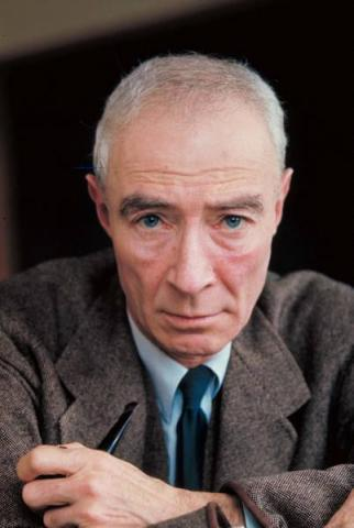J. Robert Oppenheimer. Photo courtesy of Life Magazine.
