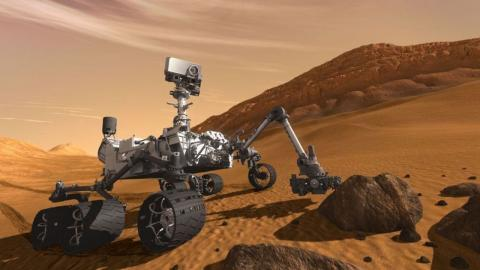 The Mars Curiosity Rover, which is powered by plutonium