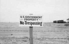 US Government's No Trespassing Sign on Hanford Land