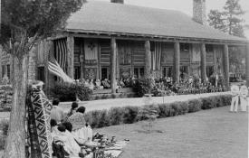 Fuller Lodge on the Los Alamos Site, 1942