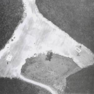 Aerial view of bomb pit