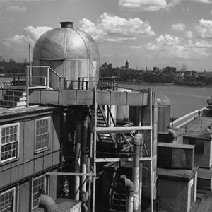 The dome of the Rad Lab's rooftop radar laboratory (Photo courtesy of MIT Department of Physics)