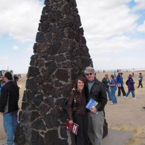 AHF President Cindy Kelly with her husband Bill Kelly at the Trinity site monumentt