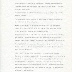 A solid resume of achievements from Berkeley starting in the Radiation Lab in 1941 to the end of him tenure at Sigmatron in 1973.