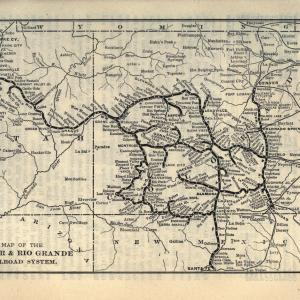 Map of the Denver & Rio Grande Railroad System, 1903