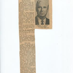One of Gordon's press releases on a thin film project which led to the photograph in Science magazine.