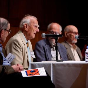 Los Alamos panel: Rex Keller, Robert Carter, Robert JS Brown, Ben Bederson, and Norman Brown