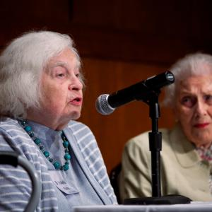Chicago and Hanford panel: Dr. Isabella Karle and Irene LaViolette