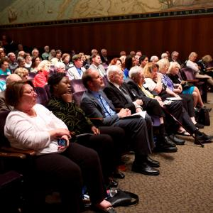 The audience enjoyed the veterans reunion!