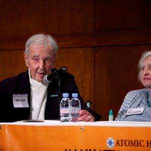 Los Alamos veteran Will Lowe and Dr. Isabella Karle