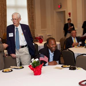 Veterans, family members, experts, and the public mingled during the reception