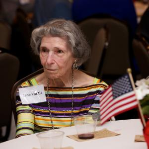 Jane Yantis, widow of an Oak Ridge veteran