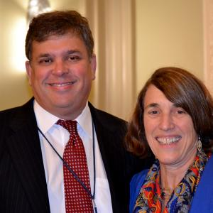 AHF President Cindy Kelly with Congressional staffer David Brooks