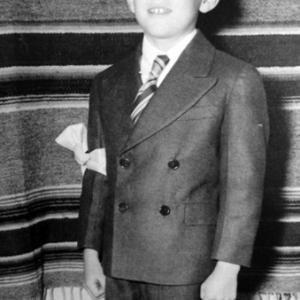 Dimas Chavez receiving his First Communions at Los Alamos, in 1944 or 1945