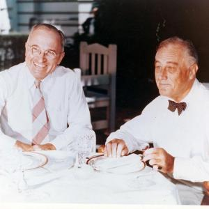 President Franklin Roosevelt and Vice President Harry Truman