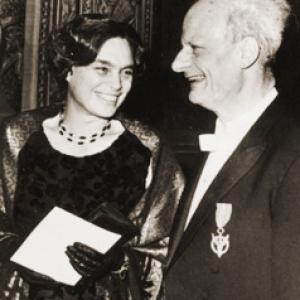 Hans and Rose Bethe at the 1967 Nobel Prize Ceremony