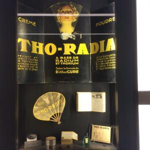 Advertisements for radium products at the Musée Curie. Picture taken by Simon Mairson.