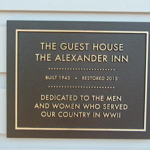The Alexander Guest House plaque today. Photo courtesy of Ray Smith.