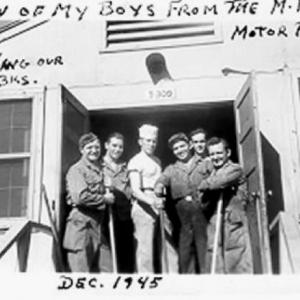 Vickio and men from the Military Police Motor Pool