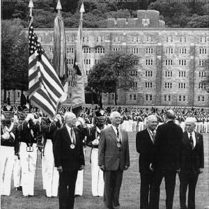 Major General Nichols receiving the 1991 Distinguished Graduate Award at West Point