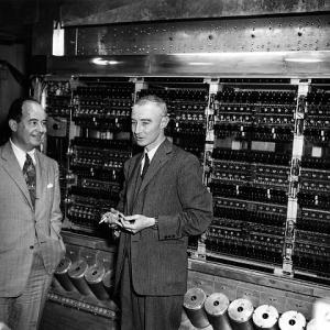 John von Neumann, J. Robert Oppenheimer, and the MANIAC computer
