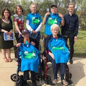 Oak Ridge Manhattan Project veterans with AHF's Cindy Kelly, Alex Levy, and Nate Weisenberg.
