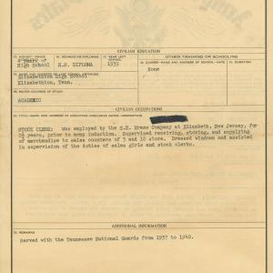 Snodgrass' discharge papers (back)