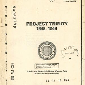 Project Trinity Booklet (cover)