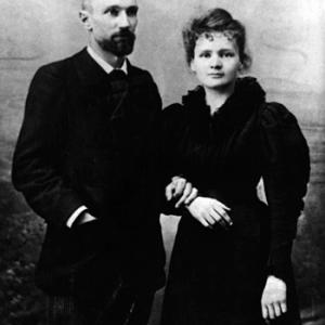 Marie and Pierre Curie wedding photo. Photo courtesy Association Curie Joliot-Curie