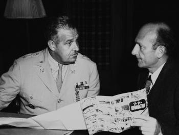 General Groves (L) and David Lilienthal (R) - Transfer of Responsibility from Army to AEC