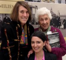 Cindy Kelly with Denise Kiernan and Rosemary Lane, one of the women featured in Kiernan's book.