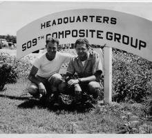 Abe Spitzer at the 509th headquarters on Tinian