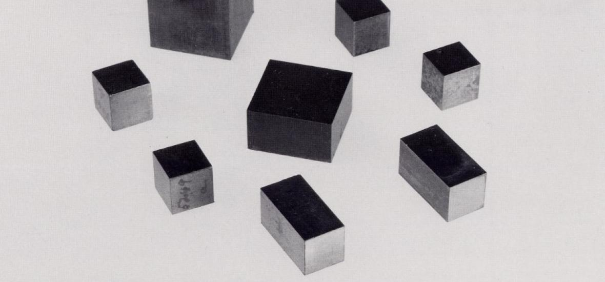 Cubes of uranium produced during the Manhattan Project