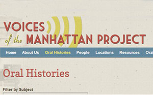 Preview of the Manhattan Project Voices Website