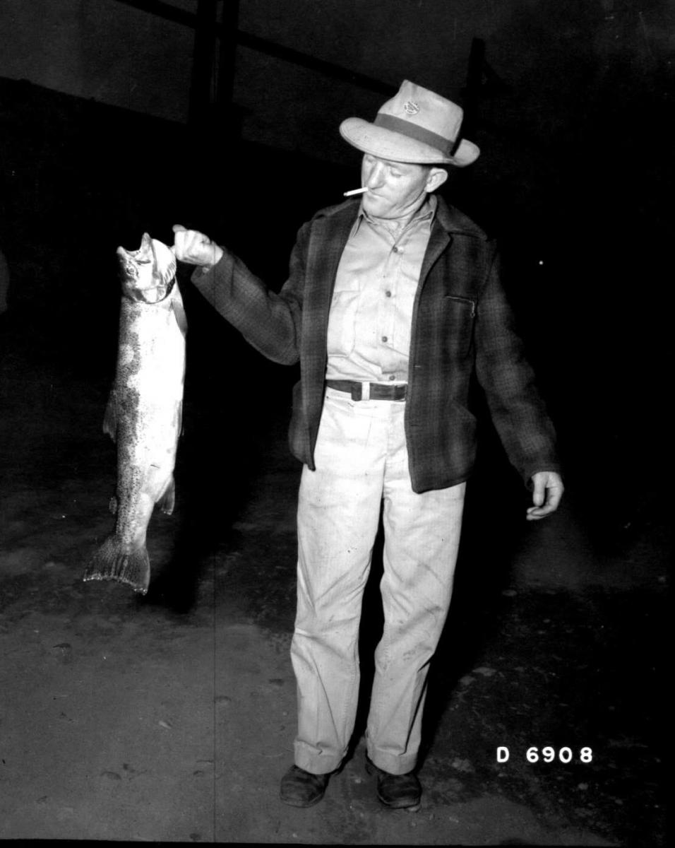 Man holding fish