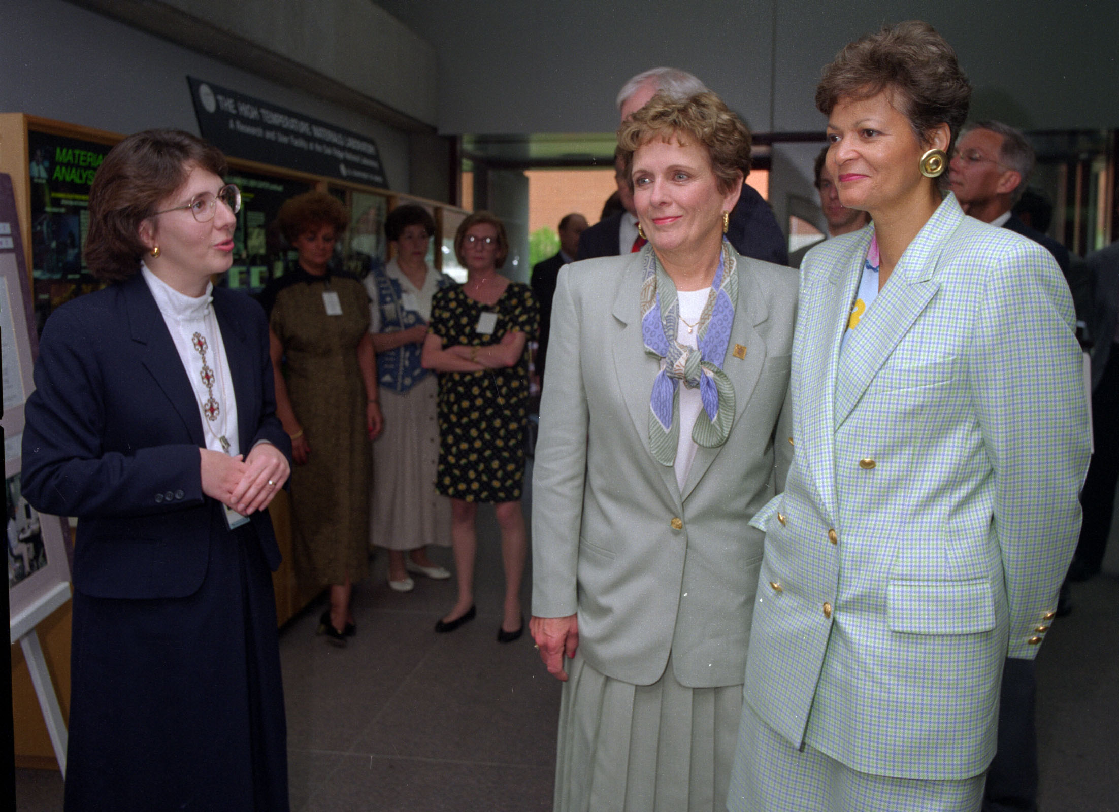 Energy Secretary Hazel O'Leary (right) visits Oak Ridge with Congresswoman Marilyn Lloyd, 1994