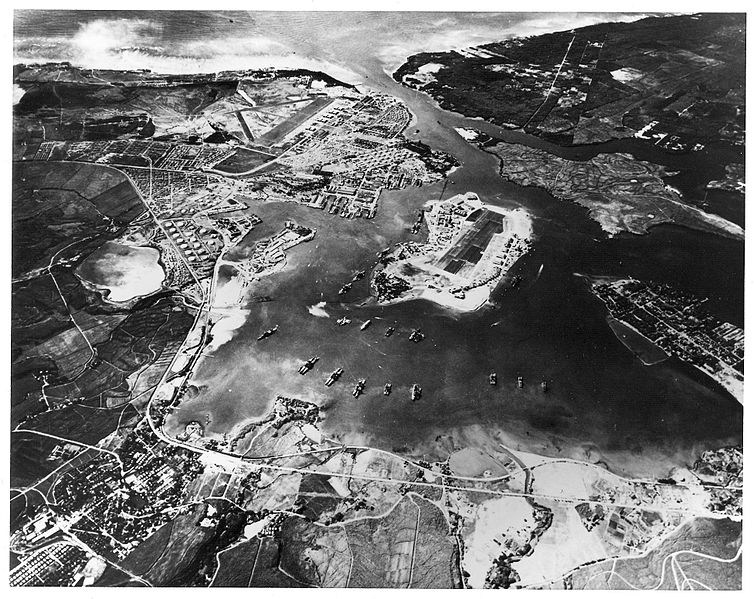 attack on pearl harbor atomic heritage foundation a photograph of pearl harbor and battleship row taken on 30 1941