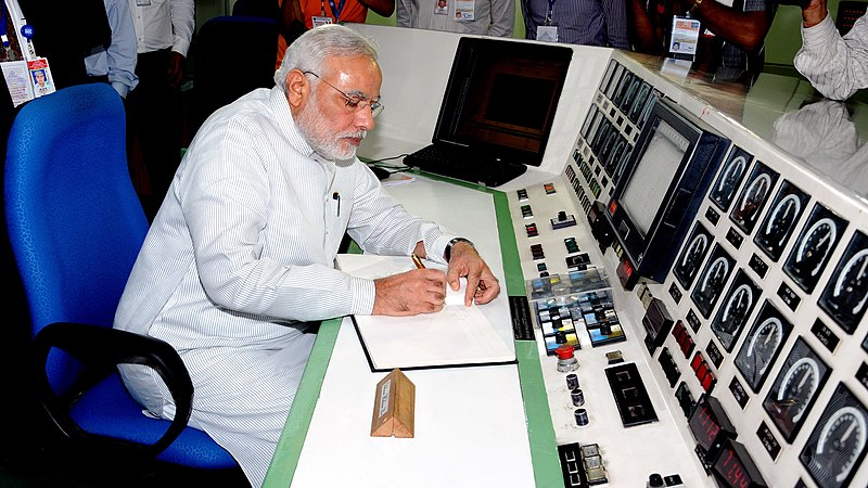 Prime Minister Narendra Modi at the Bhabha Atomic Research Centre, 2014. Courtesy of Wikimedia Commons/Government of India
