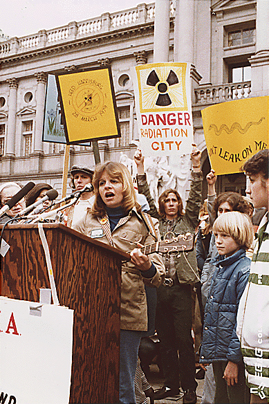 Anti-Nuclear Power Rally at Pennsylvania State Capitol, Harrisburg, PA in 1979. Photo by unknown, National Archives and Records Administration (NARA) [Public domain], via Wikimedia Commons